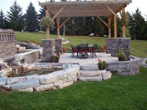 how to design a deck for the backyard stone backyard patio marceladick com