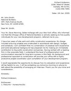 civil construction cover letter examples