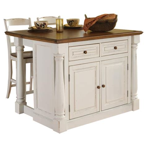 kitchen island sets home styles monarch 3 piece kitchen island set reviews