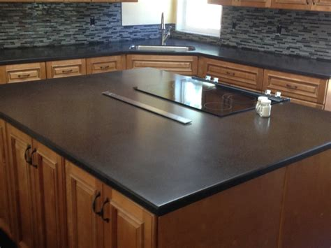 Black Solid Surface Countertop by Transitional Kitchen In Wesley Chapel Black Solid