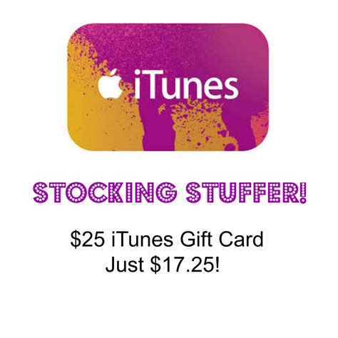 25 Dollar Itunes Gift Card - 25 itunes gift card just 17 25 great stocking stuffer