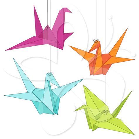 Origami Crane Clip - paper cranes clip 4 bird clip