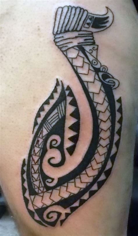 hawaiian tribal fish hook tattoo maori fish hook maori and tatoo