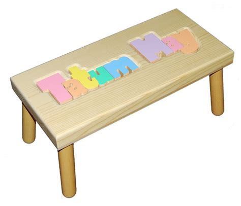 Puzzle Step Stools by Personalized Puzzle Step Stool