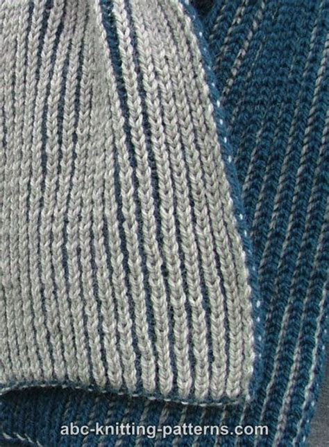 brioche knitting with two colors abc knitting patterns two color brioche scarf