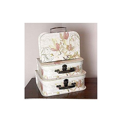 shabby chic storage boxes new set of 3 x vintage shabby chic floral piano style