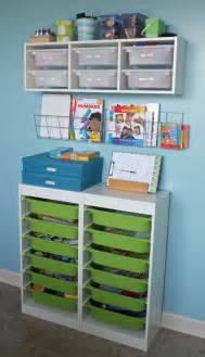 arts and craft storage center teal and lime by jackie