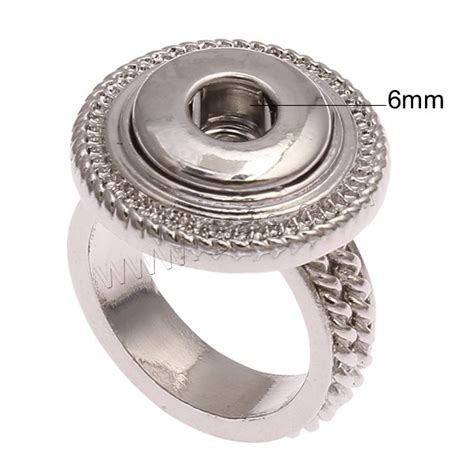 snap button ring zinc alloy plated gets