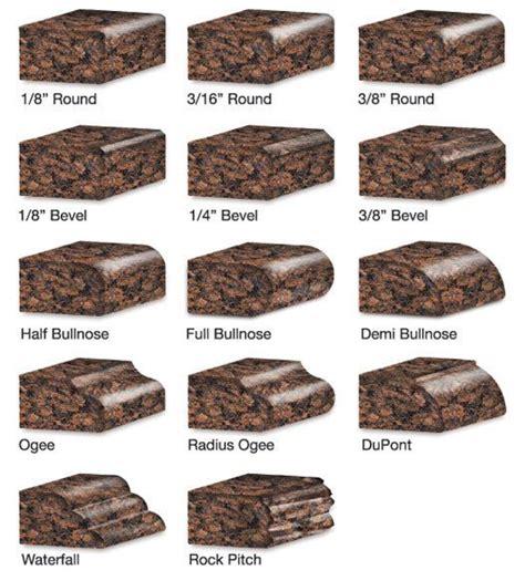 Types Of Granite Countertop Edges granite edge types countertops new countertop colors