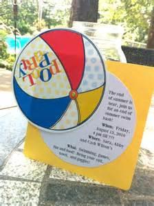 free printable pool party invitation