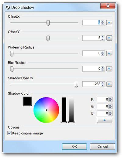 how to add a drop shadow effect to paint net