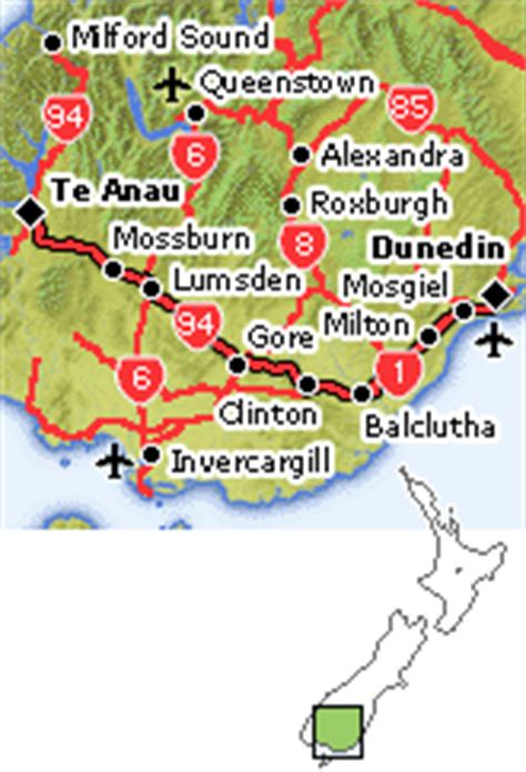 drive queenstown to dunedin day 2 te anau dunedin driving route queenstown te