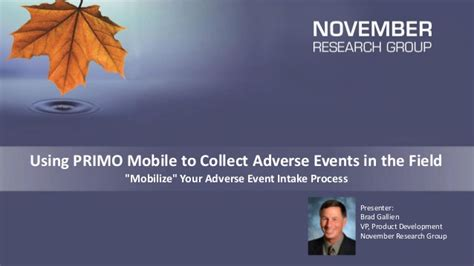 primo mobile using primo mobile to collect adverse events in the field