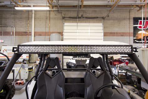 can am commander led light bar utv inc 40 quot light bar mounts that work with roof installed