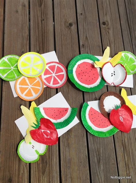 Paper Plate Food Crafts - the summer kid craft paper plate fruits