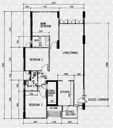 floor plan view bedok reservoir view hdb details srx property