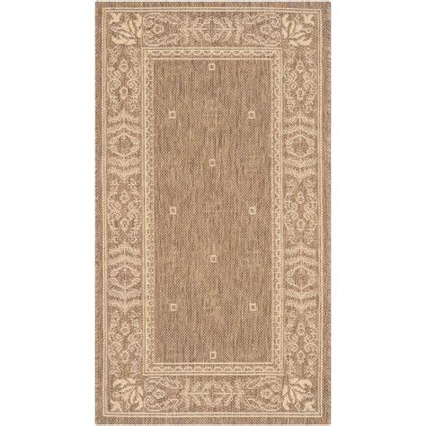 safavieh cy2326 3001 courtyard indoor outdoor area rug beige lowe s canada safavieh courtyard brown 2 ft 7 in x 5 ft indoor outdoor area rug cy2326 3009 3 the