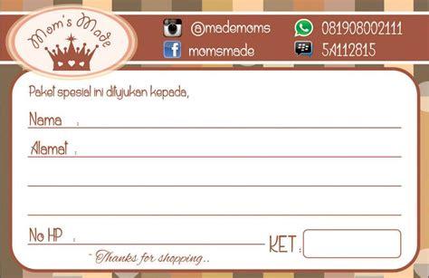 Kertas Alamat Label Alamat Pengiriman Label Paket stiker alamat untuk mengirim barang olshop free desain harga rp 65rb bizza print