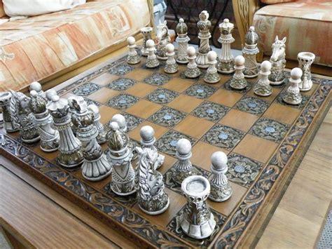 ornate themed chess set matching board  littleme