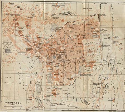 map jerusalem jerusalem history resource center