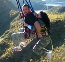 nevis bungy swing harness failure leaves woman dangling at nevis bungy swing