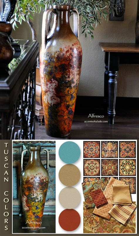 tuscan vases home decor a tuscan floor vase can be a great color inspiration piece