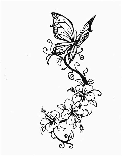 tattoo designs of butterflies and flowers image result for butterfly and flower designs tattoos
