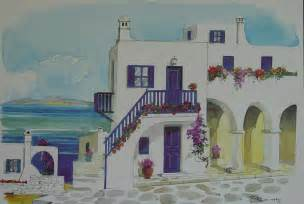 house painting images greek house and seaview by s simitis