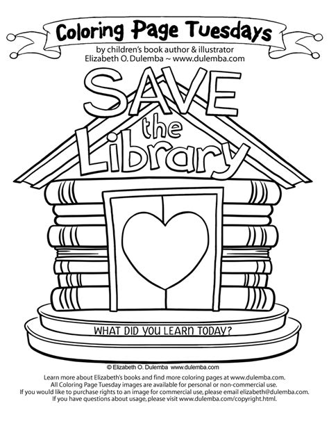 the archives coloring book books dulemba coloring page tuesday save the library