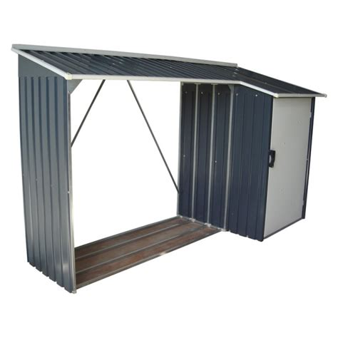 Duramax Steel Sheds by Duramax Woodstore Metal Combo Steel Shed Kit Gray 53651