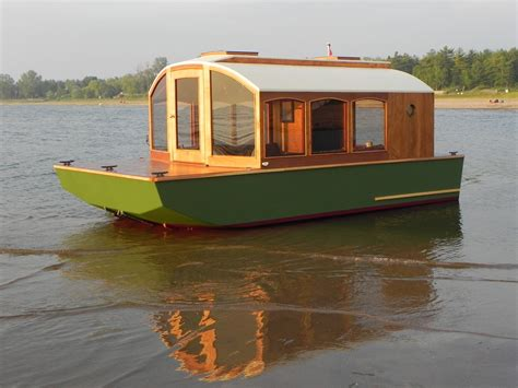 mini house boat shallow draft shanty boat wanderlust pinterest