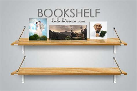 cara membuat rak buku nempel di tembok belajar photoshop membuat mock up rak buku