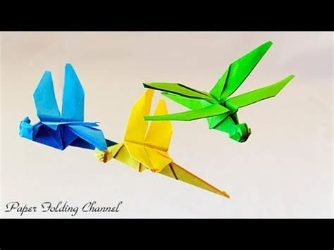 Origami Dragonfly Diagram - origami dragonfly