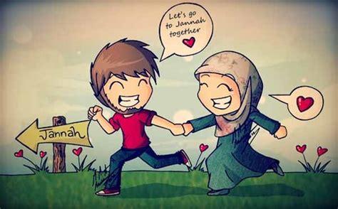 Animasi Pernikahan Islami by Pin Kartun Muslim On