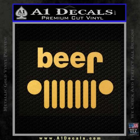 jeep beer decal jeep beer decal sticker 187 a1 decals
