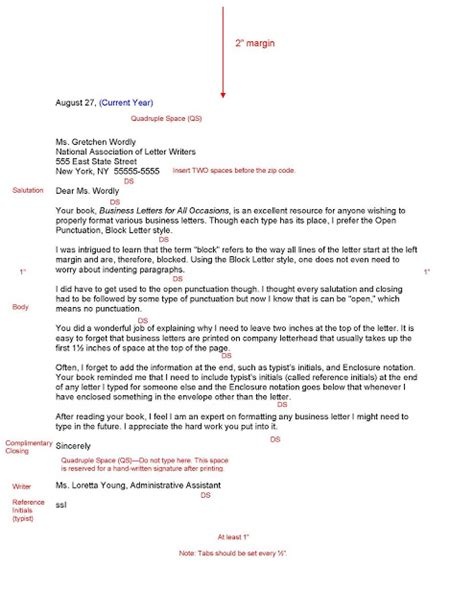 Business Letter Format Spacing best photos of business letter spacing business