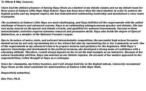 Questbridge Scholarship Letter Of Recommendation Letter Of Recommendation For Application To College College Re Mendation Letter 9 Free Word