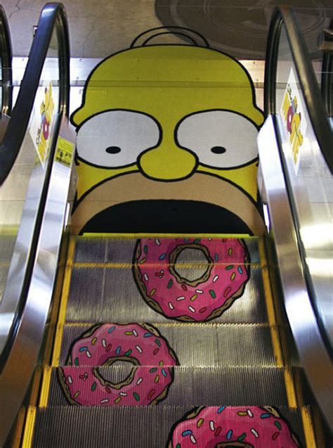 Mmm Doughnuts by Homer Eats Some Donuts On The Escalator Memoirs On A