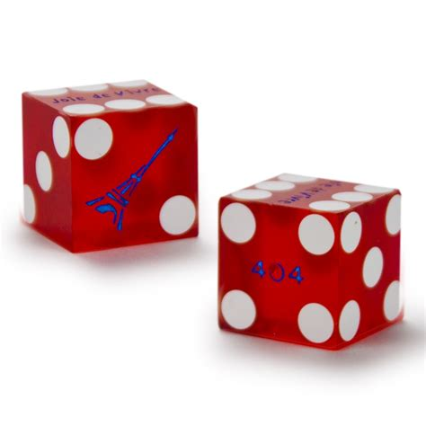 pair 2 of official 19mm casino dice used at the