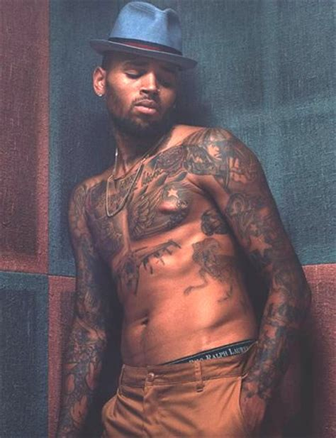 chris brown chest tattoo chris brown every i is a big f k you