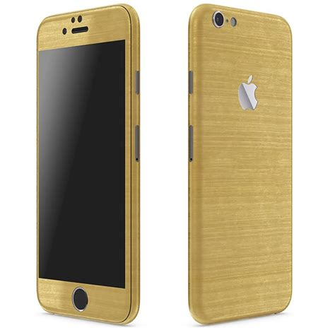 Iphone 6 Gold iphone 6 plus metal series brushed gold wrap slickwraps