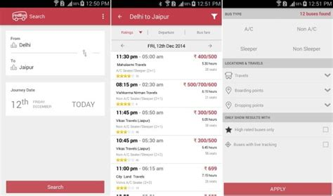 bus ticket booking apps  india  book bus