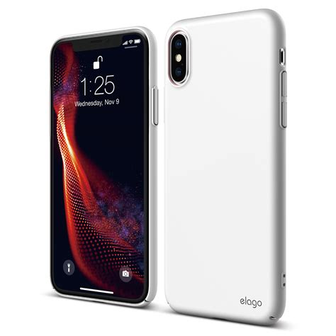 slim fit for iphone xs max white elago europe