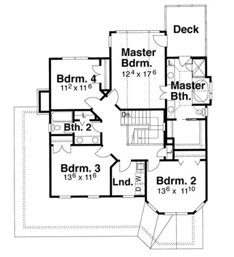halliwell manor floor plans halliwell 8262 4 bedrooms and 2 baths the house designers