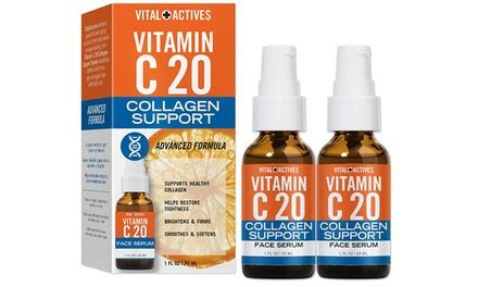 Vitamin C Serum Collagen Di Apotik vital actives vitamin c 20 collagen boosting serum 1 fl oz groupon