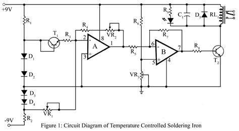 circuit diagram of soldering iron thermocouple for soldering iron schematic diagram