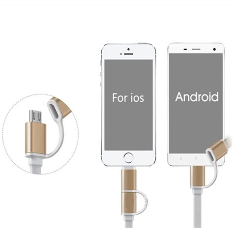 Bdc 7 Ugreen Micro Usb Adapter To Lightning For Iphone Cable Con 2 in 1 micro usb lightning connector charger adapter