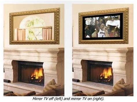 tv above fireplace for the home