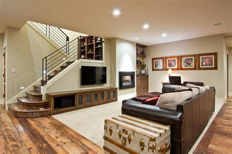 24 Finished Basements With Beautiful Hardwood Floors