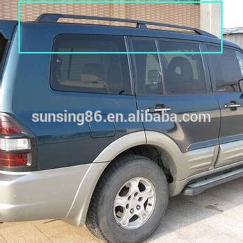Cross Bar Hitam Jepit Roof Rail Mitsubishi Pajero Sport 2015 suv roof side rails racks cross bars pajero sport